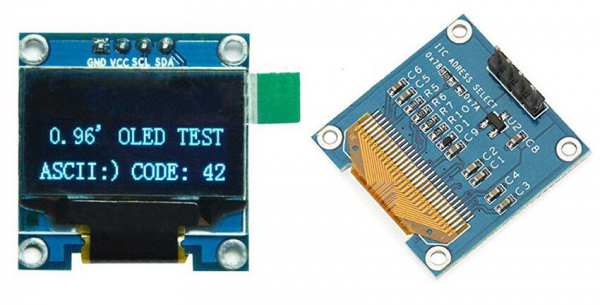 0.96 / 0.91 OLED Display Module for Arduino, Raspberry osv (flere valg) oled display forsidebakside