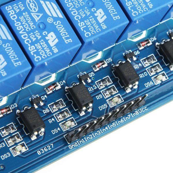 5v 8x relemodul - relay for Arduino osv 8stk rele2