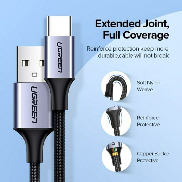 Ugreen USB til USB-C kabel 3A Fast Charge Cable 0,5m Ugreen USBc06