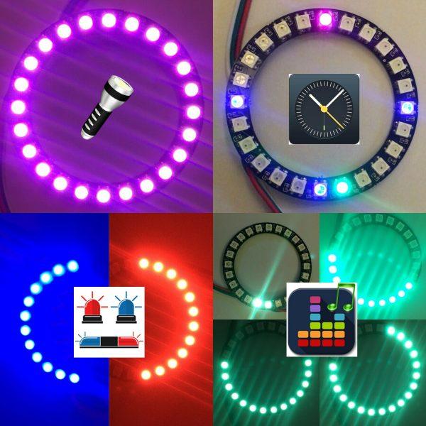Arduino IDE starter kit med blant annet LED-ring, IR og andre sensorer - NodeMCU/ESP8266 KITled03