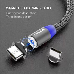 USB mikro kabel med magnetplugg
