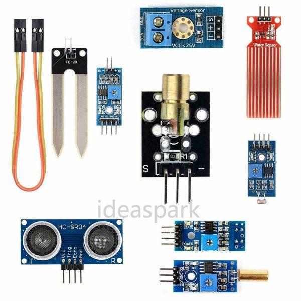 Arduino Kit med 22 sensormoduler - Sensor Modules Kit for Arduino, NodeMCU, Raspberry Pi osv (ideaSpark) kit22sensor04