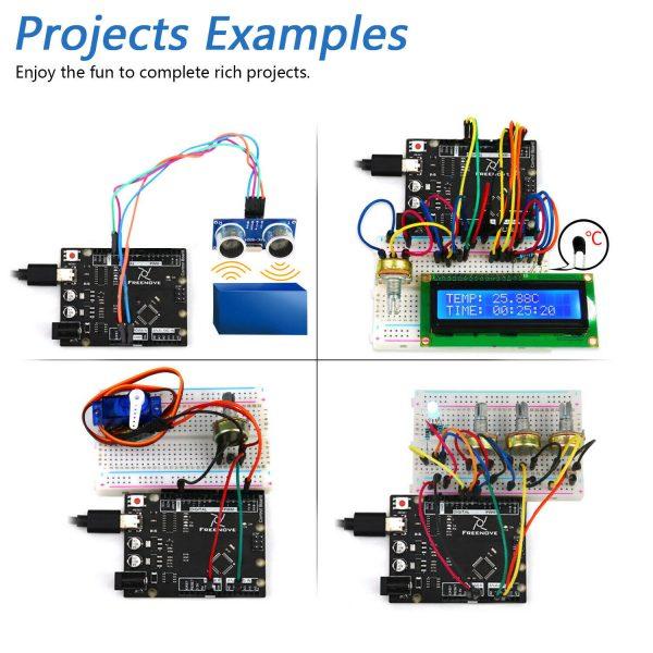 Arduino Starter kit med ultrasonic sensor servomotor osv Freenove Ultrasonic Starter Kit with Control Board (Compatible with Arduino IDE) ArduinoStarterKit04