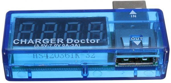 USB voltmeter ampermeter 3.5V-7V 0A-3A USB Charger Voltage Current Meter Mobile Tester Amper Voltmeter Power Detector Charge doctor Chargerdoctor05