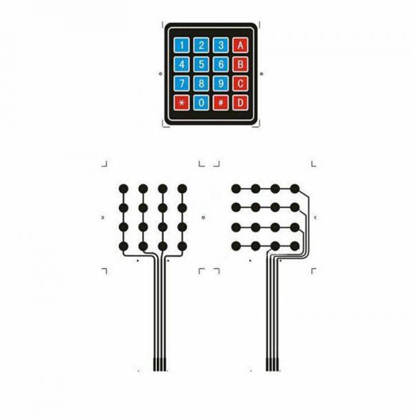 4 x 4 keypad 16 Key Matrix Array Membrane Switch Keypad Keypad02