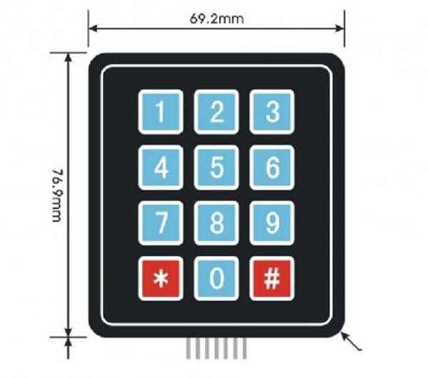 4 x 4 keypad 16 Key Matrix Array Membrane Switch Keypad Keypad03
