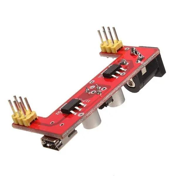 5V/3.3V spenningsmodul Breadboard Power Supply Module 5V/3.3V For Arduino SKU146967b