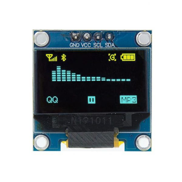 0.96 / 0.91 OLED Display Module for Arduino, Raspberry osv (flere valg) 0 96 inch I2C IIC Serial blueyellow OLED
